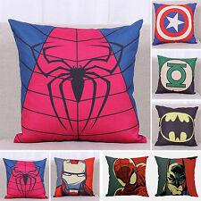 superhéroe de Marvel Decoración Funda Almohada Sofá Manta lino algodón cojín