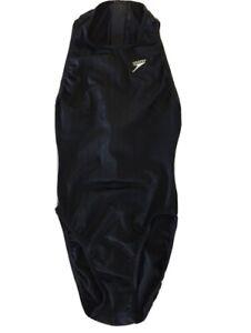 Speedo Black Aquablade Zip Up Back Size: 29