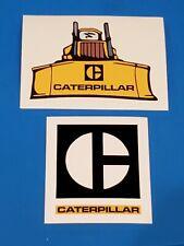 2 Old Logo CATERPILLAR Mining Crane Union Equipment Hardhat Oilfield Stickers