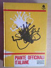 PIANTE OFFICINALI ITALIANE Giuseppe Lodi Edizioni agricole Bologna 1975