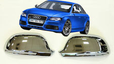 AUDI B8 A6 4F S6 RS6 S LINE CHROME FINISH MIRROR COVERS CAPS CASINGS SET WING