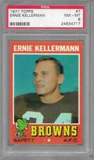 1971 Topps #7 ERNIE KELLERMAN Browns PSA 8 NM-MT