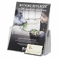 Acrylic Flyer & Business Card Holder Displays Brochures & Magazines 6-Pack