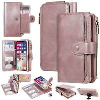 Zipper Magnetic Wallet Case Card Slot Cover For iPhone 11 Pro Max XR/XS 8 Plus