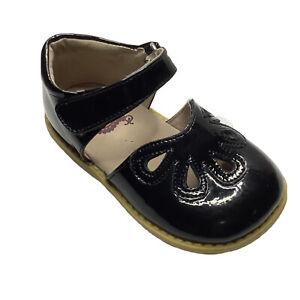 Livie & Luca Girls Size 7 Toddler Petal Mary Janes Shoes Black
