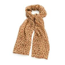 Pink Brown Animal Leopard Print Fashion Neck Scarf Tie Head Wrap Accessories