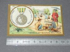 CHROMO GUERIN-BOUTRON 1905-1914 DECORATIONS FRANCE MEDAILLE TONKIN INDOCHINE