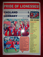England 1 Germany 0 - 2015 Women's World Cup third place game - souvenir print