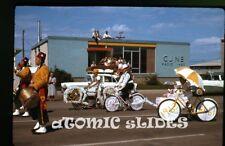 1963 Kodachrome photo slide Parade Saskatchewan Canada  bicycle CJNB