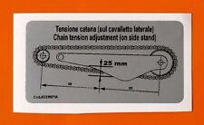 DUCATI 748/916  CHAIN ADJUSTMENT DECAL