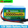 12V 30Ah Rechargeable Protable Li-ion Lithium Batterie + DC 12V Chargeur