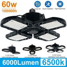30-120W 8000LM Deformable LED Garage Light Super Bright Shop Ceiling Lights Bulb