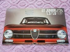 ALFA ROMEO GT Junior 1,3 1,6 1300 1600 Broschüre Katalog Prospekt deutsch -1