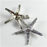 Wholesale 5pcs Antiqued Silver Starfish Look Alloy Charms Pendants Crafts 52357