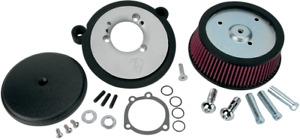 Arlen Ness Black Big Sucker Air Cleaner Filter Kit 93-00 Harley FXR FLST FXST