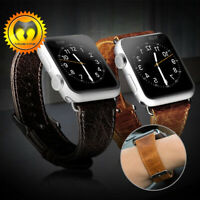 Genuine Leather Watch Band Strap 38mm 42mm For Apple Watch iWatch Series 3 2 1