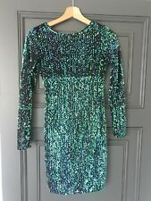 mr95 MOTEL ROCKS  Danila Dress in Mono Flower Green Small S
