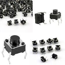 25 x pulsante tattile miniatura 6x6x7 mm PCB circuito stampato MICRO pushbutton