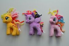 "(3) My Little Pony Friendship is Magic 5"" Plush Applejack, Twilight, Pinkie Pie"