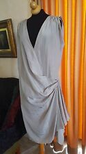 Authentic Designer LANVIN ETE 2009 chic SILKY ETHEREAL GRECIAN  DRAPED DRESS