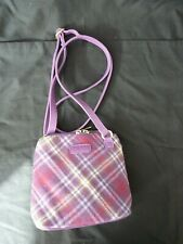Handbag Cross Body NESS designed in scotland.lilac & pink tartan.