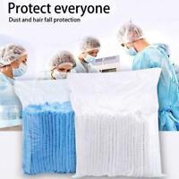 100Pcs Adjustable Disposable Non-woven Cap Breathable Cap Cover Head D8P1