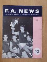 F.A. NEWS JOURNAL OF THE FOOTBALL ASSOCIATION JULY 1965 WEST HAM WIN CUP WINNERS