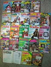 CRAFTS Magazine Lot 21 Crochet Painting Sewing Quilting Jewelry Doll Making