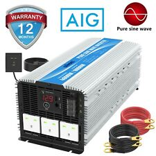 More details for power inverter pure sine wave 4000w dc 12v to ac 240v 40a output box large shell