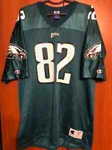 Champion Vintage Philadelphia Eagles C.Jones  #82 Football JERSEY GREEN Size 52
