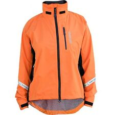 Showers Pass Womens Jacket Size XL Double Century EX Cycling Orange Waterproof
