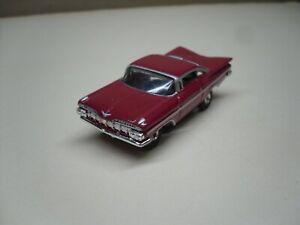 red 1959 CHEVY IMPALA HARDTOP AW or JL Thunderjet500 HO Slotcar Racer BODY ONLY