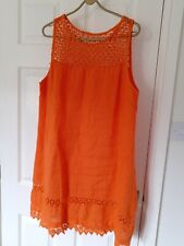 Linen Beach Summer Holiday Dress Size L (16)