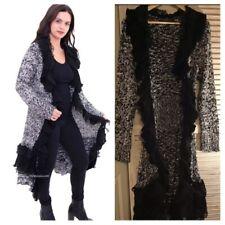 long cardigan sweater duster Small Silk,Wool, Acrylic Blend