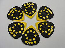 DAVA Control Grip Tip Guitar PICKS 6 PICKS Yellow