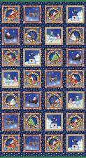 A Quilter's Christmas Panel by Jim Shore for Benartex-Santa-Snowman-Tree