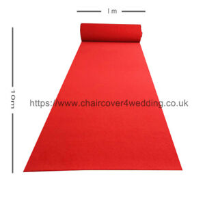 Reusable Walkway Carpet Aisle Runner for Sale (10M L x1M Wide )- RED