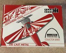 Case Lockheed Vega Vintage Airplane Bank. St Louis. Collector Series. Americana
