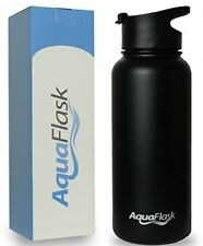 AquaFlask 32oz Insulated Stainless Steel Water Bottle | Wide Mouth with Flip Top