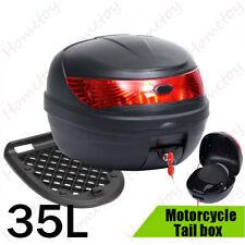 35L Motorradkoffer Top Case Motorradtasche Roller Koffer für 1 Helm Schwarz