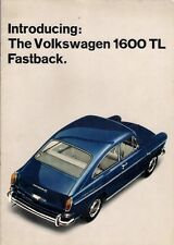 Volkswagen 1600 Type 3 1965-66 UK Market Sales Brochure TL Fastback Variant
