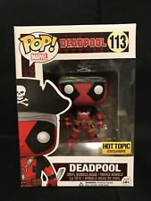 Pirate Deadpool Funko Pop Hot Topic Exclusive Marvel 113 Vinyl Figure