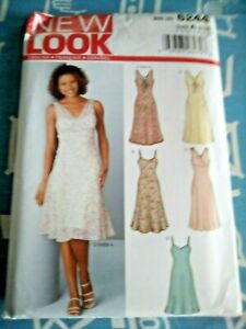 New Look 6244 multiway summer dress pattern sizes 8-18