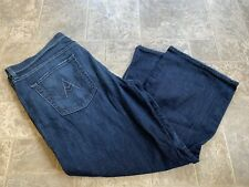 """Womens 7 For All Mankind Relaxed """"A"""" Pocket Blue ButtonFly 38x26"""