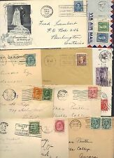 CANADA 1900's 50's COLLECTION OF 18 COVERS INCLUDING TWO FDC's