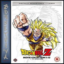 DRAGON BALL Z MOVIE COMPLETE COLLECTION MOVIES 1 - 13 PLUS TV SPECIALS NEW DVD