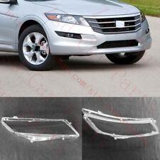 2Pcs Car Headlight Cover Transparent PC With Glue for Honda Crosstour 2010-2012