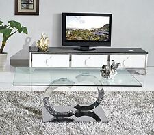 Channel DESIGNER Glass Coffee Table Living Room Furniture