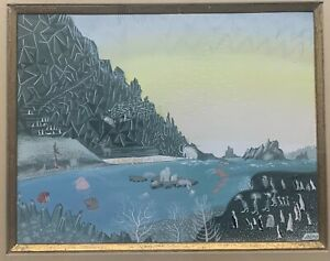 Vintage CONSTANTIN NEPO Fantastical Animals PAINTING - Russian French SURREALISM