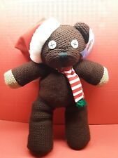 MR. BEANS TEDDY WITH SANTA HAT AND CHRISTMAS SCARF 1999 TIGER TELEVISION
